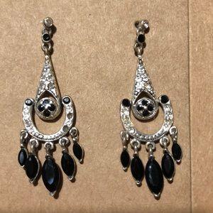 Two pairs Vintage Earrings Chandelier & Hearts